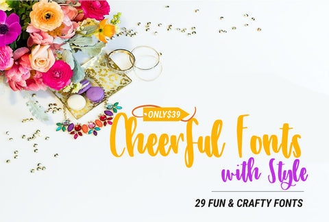 29 Cheerful Fonts With Style - Only $39 - MyDesignDeals