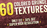 60 Stunning Colored Grunge Textures - Only $12 - MyDesignDeals