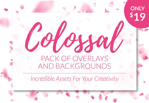 Colossal Pack Of Overlays And Backgrounds - Just $19 - MyDesignDeals
