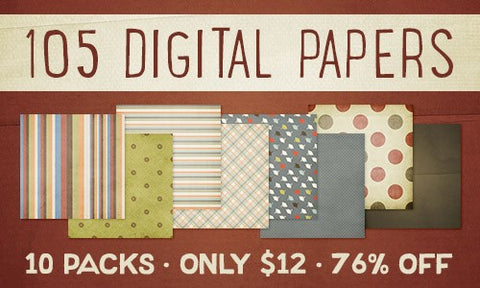 Digital Paper and Texture Bundle 10-Pack - Only $12 - MyDesignDeals