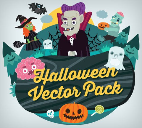 Cute Halloween Vector Pack - Only $15 - MyDesignDeals