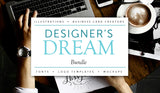Designer's Dream with Fonts and Mockups - MyDesignDeals
