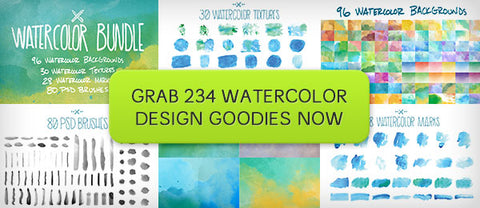 DIY Watercolor Bundle (Brushes, Textures, and More) - Only $19 - MyDesignDeals