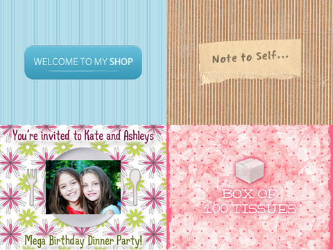 Second Chance: Dotted Daisy's 400+ Digital Backgrounds and Patterns - Only $19 - MyDesignDeals