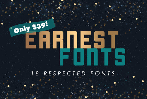 18 Earnest, Respected Fonts - Just $39! - MyDesignDeals