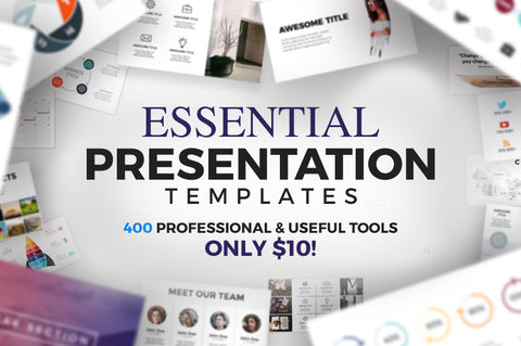 400 Essential Presentation Templates - Only $10 - MyDesignDeals