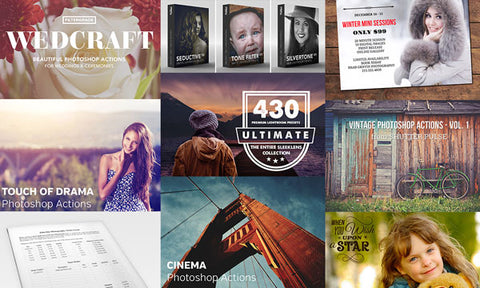 Every Photographer's Dream Bundle (Lightroom Presets, Photoshop Actions, and More) - Only $39 - MyDesignDeals