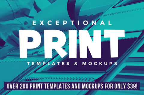 Exceptional Print Templates And Mockups - Only $39 - MyDesignDeals