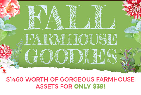 Fall Farmhouse Goodies - Only $39 - MyDesignDeals