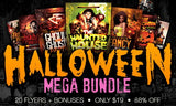 Halloween Flyer Template Mega Bundle + Bonus Posters and Mockups - Only $19 - MyDesignDeals