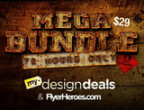 By Request: Flyer Design Template Super Bundle - Only $29 - MyDesignDeals