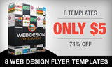 Professional Web Design and Business Flyer Templates - Only $5 - MyDesignDeals