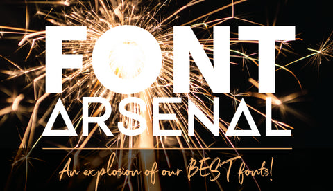 Font Arsenal - An Explosion Of The Best Fonts - Only $39 - MyDesignDeals