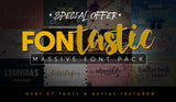 Fontastic (Massive) Font Pack and Extras - MyDesignDeals