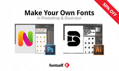 Fontself: Make Your Own Fonts in Photoshop & Illustrator - MyDesignDeals