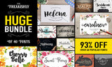 The Freakishly Huge Bundle of 40 Fonts and Bonus Vectors (Plus Web Fonts & Extended Licensing) - Only $39 - MyDesignDeals