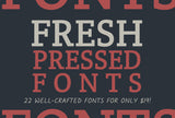 22 Fresh Pressed Fonts - Only $19! - MyDesignDeals