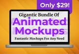 Gigantic Bundle Of Animated Mockups - Just $29 - MyDesignDeals