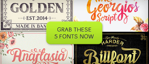 5 Fonts from Harder Type Foundry - Only $25 - MyDesignDeals