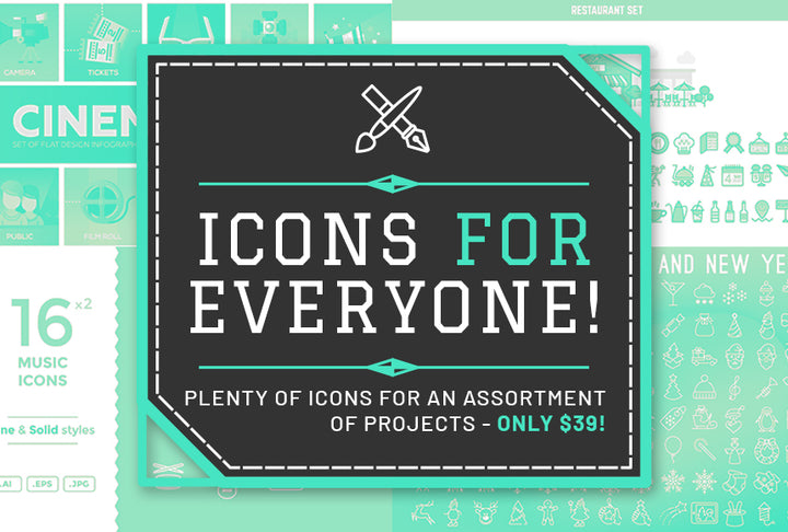 Icons For Everyone - Only $39 - MyDesignDeals
