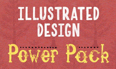 Illustrated Design Power Pack: Fonts, Vectors, Textures, and Brushes - Only $25 - MyDesignDeals