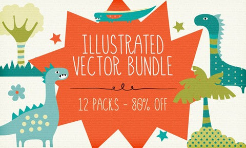 Irresistible Illustrated Vector Bundle - Only $19 - MyDesignDeals