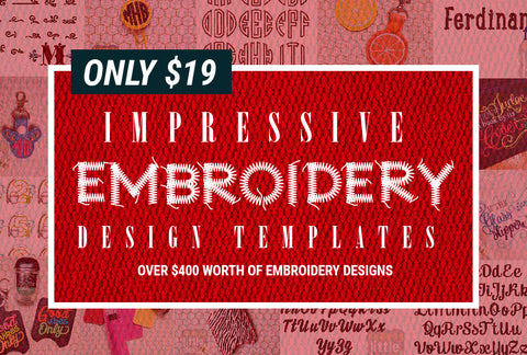 Impressive Embroidery Design Templates - Just $19! - MyDesignDeals