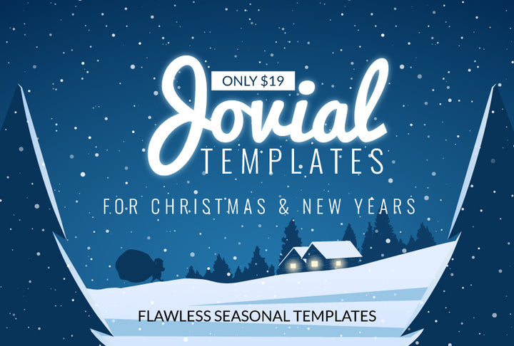 Jovial Templates for Christmas and New Years - Just $19 - MyDesignDeals