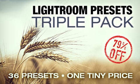 Creative Lightroom Presets Triple Pack - Only $15 - MyDesignDeals