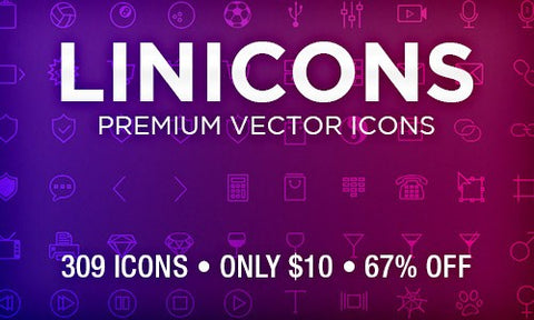 309 Vector Linicons - Only $10 - MyDesignDeals