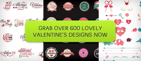 LoveZilla: Over 600 Lovely Valentine's Day Designs - Only $29 - MyDesignDeals