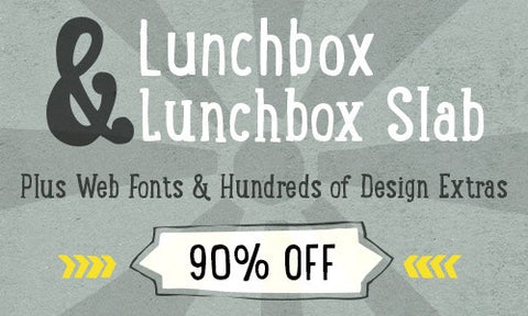 Lunchbox and Lunchbox Slab, Plus Web Fonts and Hundreds of Extras - Only $20 - MyDesignDeals