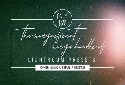 The Magnificent Mega Bundle Of Lightroom Presets - Only $39 - MyDesignDeals