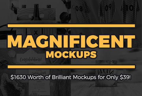 $1630 Worth Of Magnificent Mockups - Only $39 - MyDesignDeals