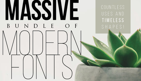 Massive Bundle Of Modern Fonts - Only $39 - MyDesignDeals