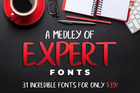 A Medley Of 31 Expert Fonts - Only $39 - MyDesignDeals