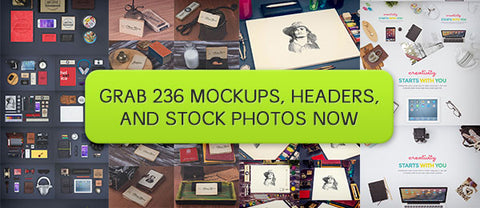 236 Premium Mockups and Headers (Plus Bonus Photos) - Only $29 - MyDesignDeals