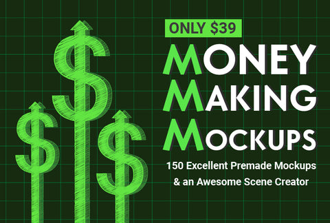 Money Making Mockups, Plus Bonus Scene Creator - Just $39 - MyDesignDeals