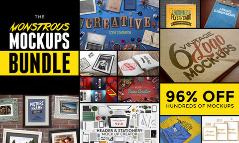 The Most Monstrous Mockups Bundle of All Time - Only $39 - MyDesignDeals