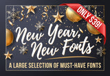 New Year New Fonts - Just $39 - MyDesignDeals