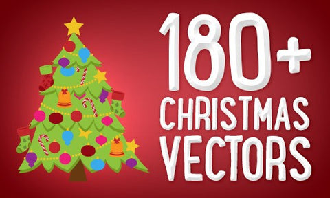 180+ Perfect Christmas Vectors - Only $9.99 - MyDesignDeals