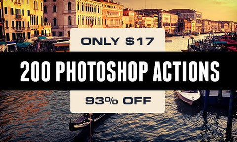 Bundle of 200 Assorted, Useful Photoshop Actions - Only $17 - MyDesignDeals
