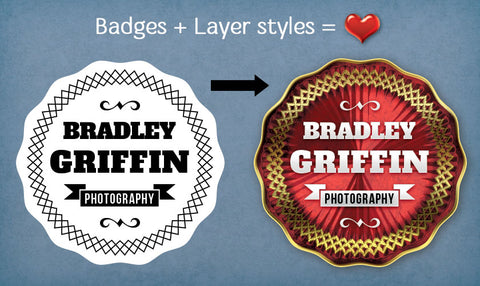 40 Vector Photo Badge Overlays to Professionally Brand Your Work - Only $15 - MyDesignDeals