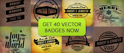 PhotographyPla.net Pack of 40 Vector Photo Badges - Only $15 - MyDesignDeals
