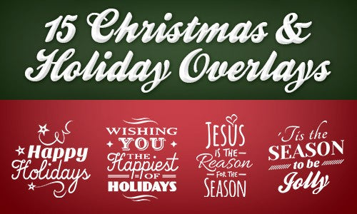 15 festive christmas and holiday overlays only 7 - Christmas Overlays