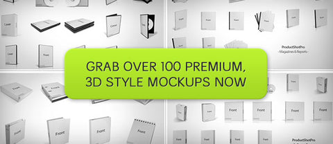 ProductShotPro, Over 100 3D Style Product Mockups - Only $37 - MyDesignDeals