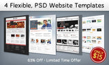 4 Flexible, PSD Website Templates - Only $15 - MyDesignDeals