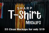 55 Sharp T-Shirt Mockups to Upgrade Your Work - Only $19 - MyDesignDeals
