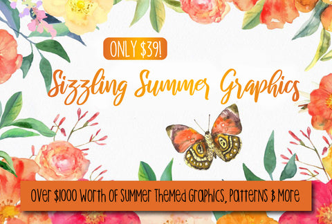 Sizzling Summer Graphics - Only $39 - MyDesignDeals