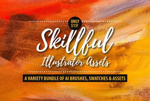 Skillfull Illustrator Assets - Brushes, Swashes And More - Only $15 - MyDesignDeals